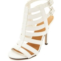 Strappy Single Sole High Heel Sandals