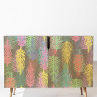 Lisa Argyropoulos Feathered Spring Gray Credenza