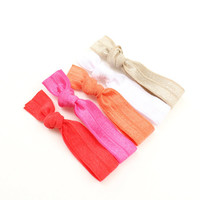 Elastic Ponytail Holders - Snag Free Hair Elastics - Best Hair Accessories - Ponytail Holders For Thick or Thin Hair - Hair Bands For Women