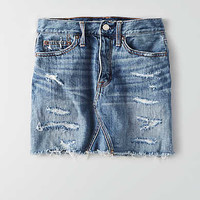 AEO Vintage Hi-Rise Denim Skirt, Medium True Blue