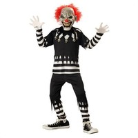 Glowing Psycho Scary Clown Kids Costume