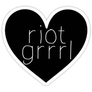 Riot Grrrl - Transparent Text
