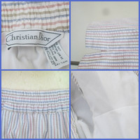 Christian Dior Swim Short Trunks Mid Century Seersucker Striped Resort Swimwear