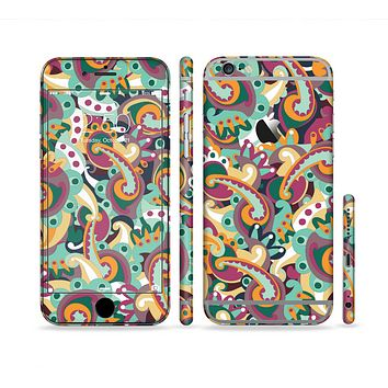 The Wild Colorful Shape Collage Sectioned Skin Series for the Apple iPhone 6 Plus