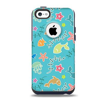Colorful Cartoon Sea Creatures Skin for the iPhone 5c OtterBox Commuter Case