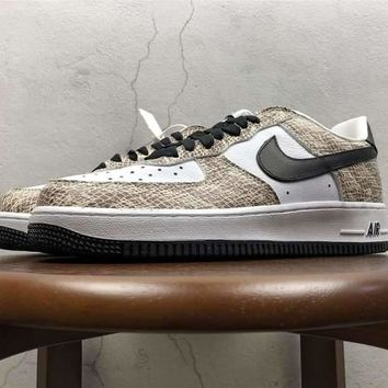 [ Free Shipping ]Nike Air Force 1 Low ¡°Cocoa Snake¡± 845053-104 Running Sneaker