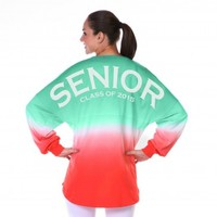 Senior Class of 2015 - Ombre Tie Dye Spirit Football Jersey®