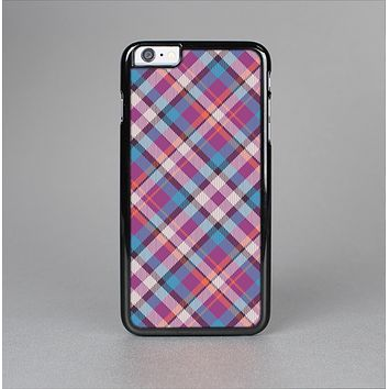 The Striped Vintage Pink & Blue Plaid Skin-Sert for the Apple iPhone 6 Plus Skin-Sert Case