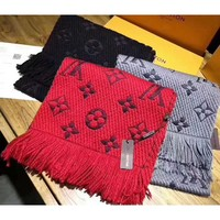 LV Louis vuitton gold silk women trend exquisite knitting wool scarf shawl special cabinet F-XLL-WJ