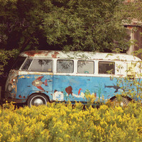 Hippie Bus 8x10 Fine Art Photography Peace Love by laughlovephoto