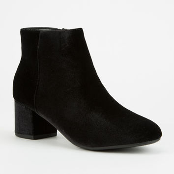 CITY CLASSIFIED Velvet Womens Booties | Boots + Booties