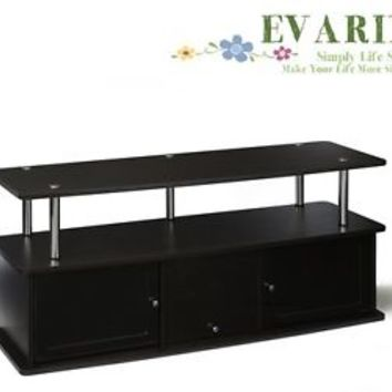 Furniture TV Stand Up To 50 Inches Flat Panel Media Entertainment Console Black