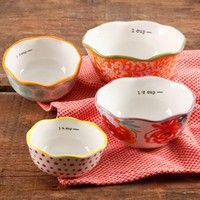 The Pioneer Woman Flea Market 4-Piece Ceramic Decorated Measuring Bowls - Walmart.com