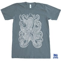 OCTOPUS Mens Jersey Tee - American Apparel  Cotton Tshirt - S M L XL (9 Colors Available)