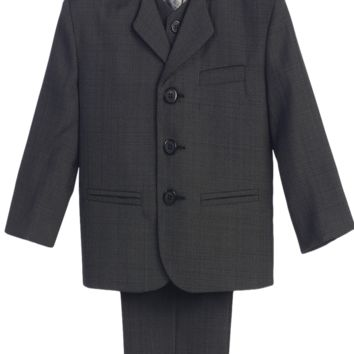 Charcoal Grey Single Breasted Dress Suit 5 Piece (Boys 6 months - size 16H)