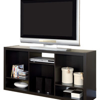 Monarch Specialties Large Wooden TV Stand - Brown