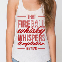 Fireball Whiskey Country Music Racer Back Tank Top