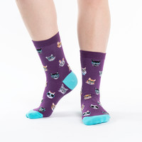 Smarty Cats Crew Socks