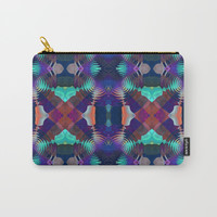 Abstract Patchwork Carry-All Pouch by Lyle Hatch