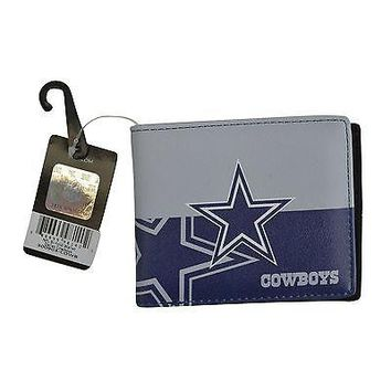 Licensed Official Brand New NFL Dallas Cowboys Men Women Synthetic Leather Bi-Fold Wallet