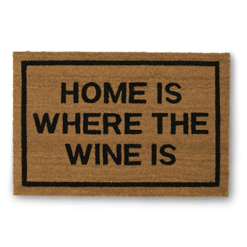 Home Is Where The Wine Is Doormat