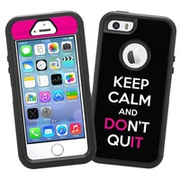 "Keep Calm and Don't Quit ""Protective Decal Skin"" for OtterBox Defender iPhone 5s Case"