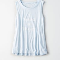 AE Graphic Tank Top, Blue
