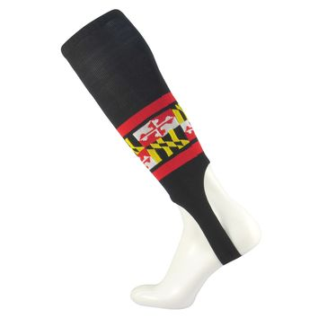 TCK Black Maryland Flag Nylon Baseball Stirrups
