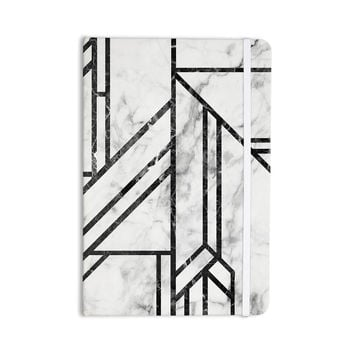 "KESS Original ""Black Marble Mosaic"" Geometric Modern Everything Notebook"