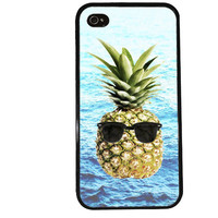 Cool Pineapple Case / Sunglasses iPhone 4 Case Nerd iPhone 5 Case iPhone 4S Case iPhone 5S Case Summer Trendy Ocean Case Hipster iPhone 5C