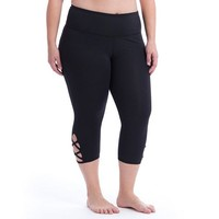 Plus Size Marika Curves Lace Up Capri Leggings