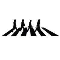 "The Beatles - Abbey Road - Car, Truck, Notebook, Vinyl Decal Sticker Any Corlor 6.6"" X 2"""