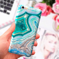 Turquoise agate iPhone 7 Plus case, iPhone 6 marble case, iPhone 5S case, iPad case, marble, iPhone SE case, iPhone case, Phone marble case