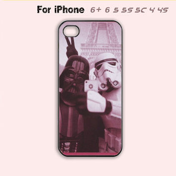 Funny Star Wars Darth Vader Selfie Phone Case iPhone 4 4s 5 5s 5c 6 Plus Hot New-5 Colors Available