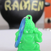 Green Buddha Keychain, Buddhist Keychain, Yoga Keychain, Yoga Gift, Gifts Under 10, Stocking Stuffer, Bodhi Day