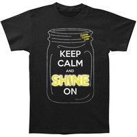 Florida Georgia Line Men's  Keep Calm And Shine On T-shirt Black