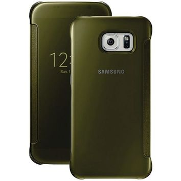 Samsung(R) 34-2888-05-XP S-View Flip Cover for Samsung(R) Galaxy S(R) 6 (Clear/Gold)