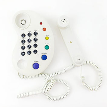 Paint Palette Corded Landline Phone / Telephone / Radio Shack / Vintage Electronics / Fun Novelty Decor / Rainbow Colors