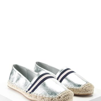 Metallic Espadrille Loafers