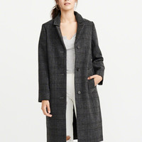 Womens Long Wool-Blend Overcoat | Womens Jackets & Coats | Abercrombie.com