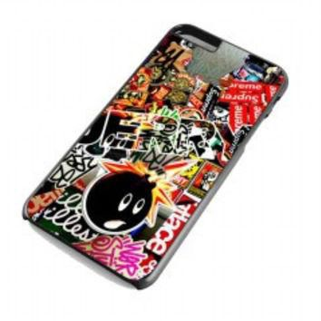 Sticker Bomb Supreme and illest for iphone 6 plus case