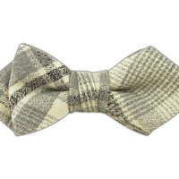 Wool Suiting - Gray Rich Plaid (Diamond Tip Bow Ties) from TheTieBar.com - Wear Your Good Tie Everyday