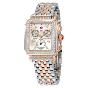Michele Signature Deco Diamond Two-tone Ladies Watch MWW06P000232