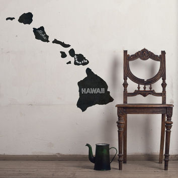 Hawaii Chalkboard State wall decal