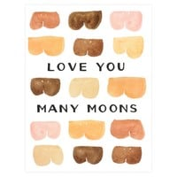 Many Moons Greeting Card