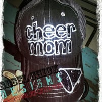 Personalized Cheer Mom Hat by RebelChicks on Etsy