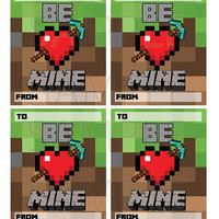 MINECRAFT Card Tags School Gift INSTANT Download