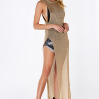 Gold Dust Maxi Top
