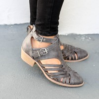 Small Town Gray Side Buckle Heels