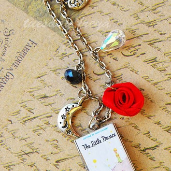 The Little Prince - a miniature book locket necklace